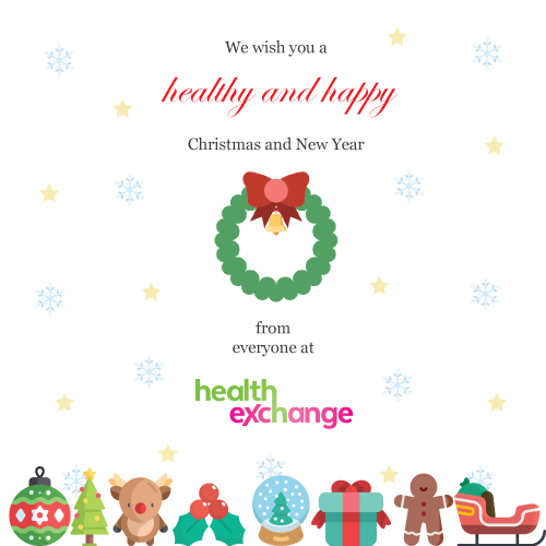 Wishing you a healthy and happy Christmas from everyone at Health Exchange