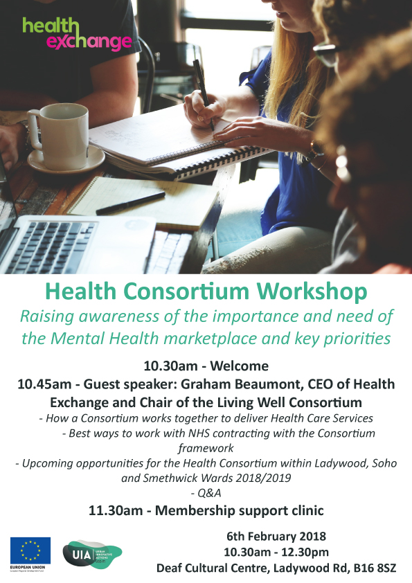 Health consortium workshop flyer